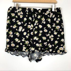 🍁Forever 21 Plus Shorts Size 0X Floral Pajama B10